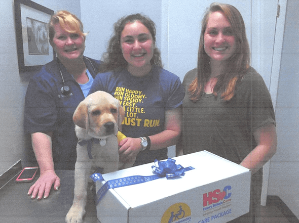 Providing Care Packages for Future Service Dogs